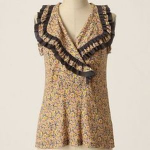 Anthropologie One September Suave Ruffled Top | M